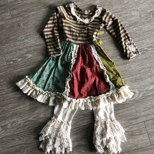 EUC Mustard Pie 2T dress & leggings